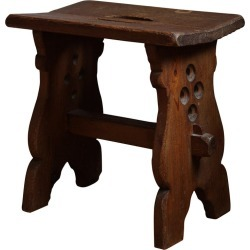 Swedish Designer, Stool, Solid Stained Pine, Sweden, 1940s found on Bargain Bro Philippines from 1stDibs for $1900.00
