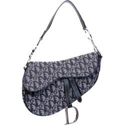 Dior Vintage Oblique Trotter Saddle Bag 2006