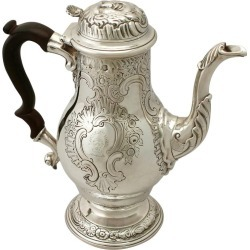 Antique George Ii Sterling Silver Coffee Pot found on Bargain Bro Philippines from 1stDibs for $7680.08