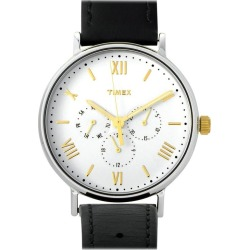 Timex Southview Black Leather Strap Watch Tw2r80500