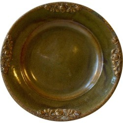 Danish Stoneware Bowl By Michael Andersen With Floral Brass Edge And Ornaments found on Bargain Bro Philippines from 1stDibs for $710.66