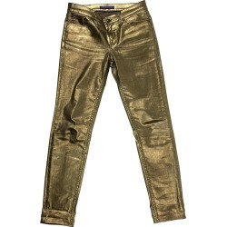 Ralph Lauren Gold Metallic Cotton Jeans Pants Size 28 found on Bargain Bro Philippines from 1stDibs for $550.00