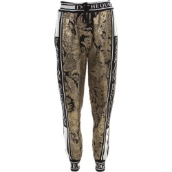 Dolce & Gabbana Gold Floral Brocade Knit Trim Jogger Pants S found on Bargain Bro India from 1stDibs for $496.00