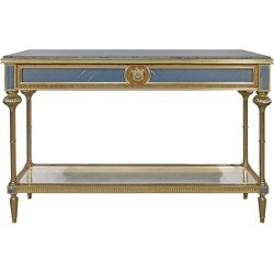 Gold Leaf Long Console Table found on Bargain Bro Philippines from 1stDibs for $15000.00