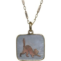 Art Deco Cat Charm Pendant