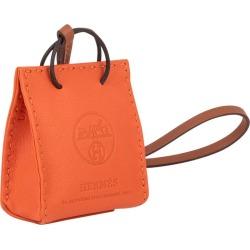 Hermes Orange Bag Charm New W/ Box