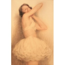Lucien Boulier, The Ballerina, An Original Pastel Drawing of a Ballerina, 1920 found on Bargain Bro Philippines from 1stDibs for $5800.00