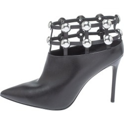 Alexander Wang Black Leather Toni Pointed Toe Cage Booties Size 41 found on MODAPINS from 1stDibs for USD $551.00