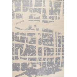Modern Contemporary Area Rug In Blue Gray Handmade Of Silk And Wool,