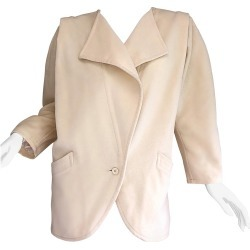 Fabulous Vintage Emanuel Ungaro 1980s Avant Garde Ivory Wool 80s Cocoon Jacket found on MODAPINS from 1stDibs for USD $945.00
