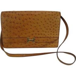 Hermes Vintage Ostrich Leather Shoulder Bag