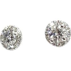 Diamond Stud Earrings 18 Karat Certified