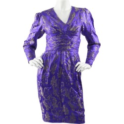 Emanuel Ungaro Blue Silk Brocade Dress found on MODAPINS from 1stDibs for USD $627.95