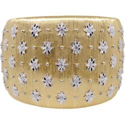 Diamond 18 Karat Gold Cuff Bracelet In Florentine Finish, Prime Goddess Cuff found on Bargain Bro India from 1stDibs for $19500.00