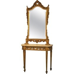 Italian 19th Century Louis Xvi Style Giltwood Console Table And Mirror found on Bargain Bro Philippines from 1stDibs for $12042.12