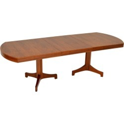 1960s Vintage Walnut Extending Dining Table By Robert Heritage found on Bargain Bro Philippines from 1stDibs for $3526.21