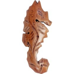 Carved Wooden Seahorse Nautical Pin Brooch, Vintage found on Bargain Bro India from 1stDibs for $225.00