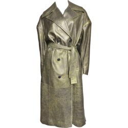 Drome New Gold Leather Belted Trench Coat found on MODAPINS from 1stDibs for USD $675.00