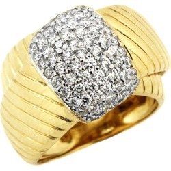 Yellow White Gold And Diamond Cross Over Ring found on Bargain Bro Philippines from 1stDibs for $2700.00