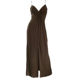 Carolina Herrera 1990s Espresso Brown Silk Chiffon Sz 8 Vintage 90s Gown Dress found on MODAPINS from 1stDibs for USD $1325.00