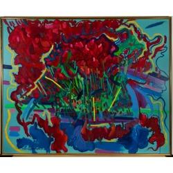 John Cherrington, John Cherrington (1931-2015) - 1982 Acrylic, Abstract Extrapolation, 1982 found on Bargain Bro India from 1stDibs for $1900.00