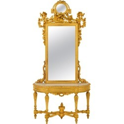 French Early 19th Century Louis Xvi Style Giltwood And Marble Console found on Bargain Bro Philippines from 1stDibs for $69500.00