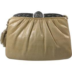 Judith Leiber Snakeskin And Rose Quartz Bag