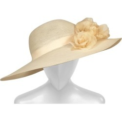 Patricia Underwood Silk Flower Trimmed Wide Brim Hat found on Bargain Bro from 1stDibs for USD $266.00