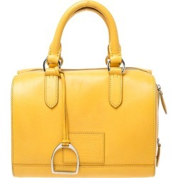 Ralph Lauren Yellow Leather Stirrup Boston Bag found on Bargain Bro from 1stDibs for USD $718.96