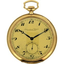 International Watch Co 'iwc', 14 Karat Gold Pocket Watch, Circa 1930s found on MODAPINS from 1stDibs for USD $4772.96