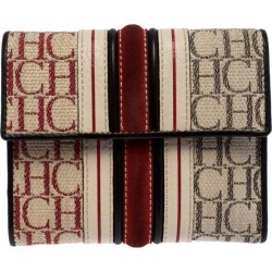Carolina Herrera Tri Color Signature Canvas, Suede And Leather Trifold Wallet found on MODAPINS from 1stDibs for USD $213.00