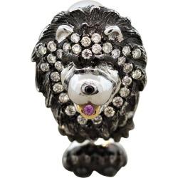 Diamond Sapphire Gold Puppy Dog Ring