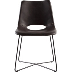 Modern Leather Dining Chair With Black Steel Legs found on Bargain Bro Philippines from 1stDibs for $890.00