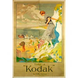 Frederick Pegram, Rare Large Original Vintage Camera Advertising Poster - Take A Kodak With You, 1920s found on Bargain Bro Philippines from 1stDibs for $17631.03