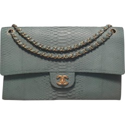 Chanel Seafoam Green Python Snakeskin Classic found on Bargain Bro India from 1stDibs for $6500.00