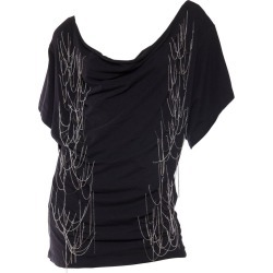 2000s John Galliano Black Cotton Jersey Chain Punk Rock T-shirt found on MODAPINS from 1stDibs for USD $388.00