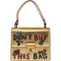 Dolce & Gabbana Gold Embellished Leather Rosalia Top Handle Bag found on Bargain Bro India from 1stDibs for $1602.00