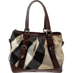 Burberry Beige/brown Mega Check Canvas And Leather Lowry Tote found on Bargain Bro India from 1stDibs for $560.00