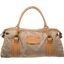 Burberry Light Brown Canvas And Leather Duffle Bag found on Bargain Bro India from 1stDibs for $525.00