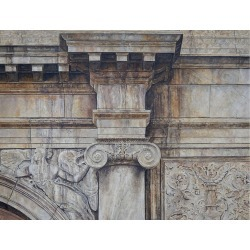 Richard Britell, September 10, 11 East 71: Architectural Oil Painting Realistic Building Exterior, 2013