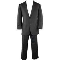Dolce & Gabbana Us 42 / It 52 Regular Black Wool Peak Lapel Suit found on Bargain Bro India from 1stDibs for $343.00
