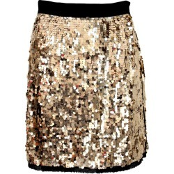 Dolce Gabbana Golden Sequins Silk Charleston Short Evening Skirt 2000s found on MODAPINS from 1stDibs for USD $260.19