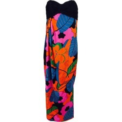 Emanuel Ungaro Parallele Tropical Print Strapless Maxi Dress 1970s found on MODAPINS from 1stDibs for USD $595.00