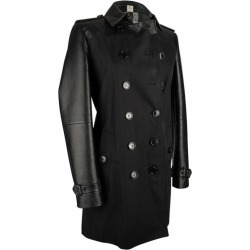 Burberry Trench Coat Black Lambskin Leather And Cotton 8 / 6 found on Bargain Bro India from 1stDibs for $1245.00