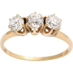 Antique Three-stone Diamond And Gold Stacking Or Engagement Ring found on Bargain Bro Philippines from 1stDibs for $1800.00