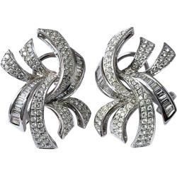 18 Karat Gold Baguette Pav� Diamond Earrings found on Bargain Bro Philippines from 1stDibs for $7350.00