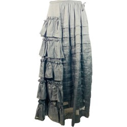 Isa Arfen Black Ruffle Maxi Skirt Size 10 found on MODAPINS from 1stDibs for USD $990.00