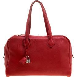 Hermes Rougue Garance Togo Leather Victoria Ii Bag