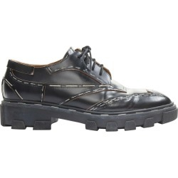 Balenciaga Black Leather Silver Staple Chunky Ridged Sole Punk Derby Shoes Eu39 found on Bargain Bro Philippines from 1stDibs for $432.00