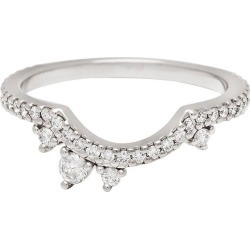Anna Sheffield 14k Gold White Diamond Dusted Meridian Scallop Wedding Band found on Bargain Bro Philippines from 1stDibs for $2400.00